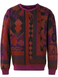 geometric print sweatshirt Versace