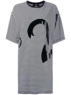 платье-футболка в полоску с логотипом  Nº21
