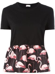 футболка с принтом фламинго Red Valentino