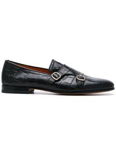 туфли-монки с тисненым узором Santoni