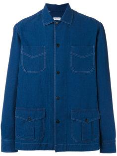 джинсовая рубашка с накладными карманами Salvatore Piccolo