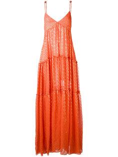 платье с отделкой металлик Daizy Shely