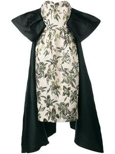 жаккардовое платье без бретелек Christian Pellizzari