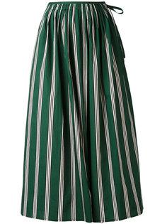 полосатая юбка с присборенной отделкой Aspesi