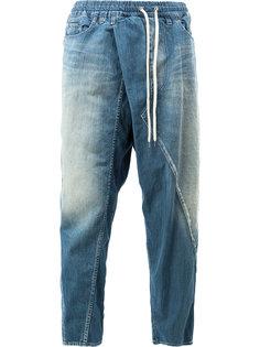 зауженные джинсы с заниженным шаговым швом Maison Mihara Yasuhiro