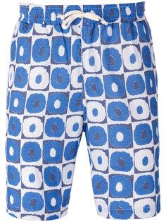 geometric print beach shorts Universal Works