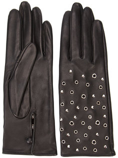 metallic-embellished gloves Perrin Paris