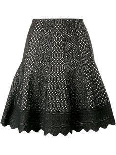 трикотажная юбка с резным узором Alexander McQueen