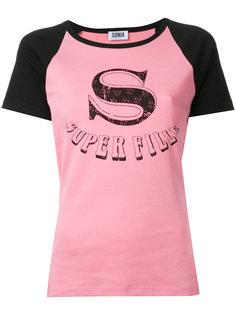 футболка с принтом super fille  Sonia By Sonia Rykiel