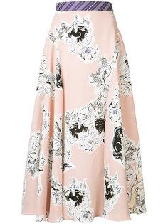 floral pleated skirt Roksanda