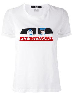 футболка Fly With Karl Karl Lagerfeld