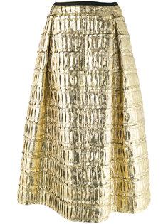 юбка металлик со складками Odeeh
