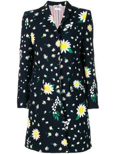пальто с цветочным узором Thom Browne