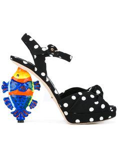 босоножки с узором в горох Kiera  Dolce & Gabbana