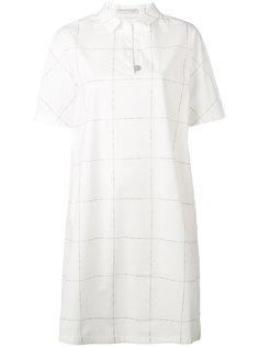 платье-рубашка в клетку Fabiana Filippi