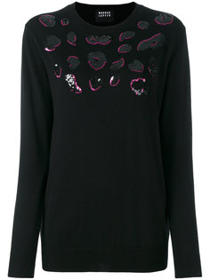 sequin lips sweater Markus Lupfer