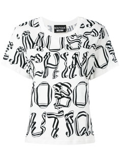 printed text T-shirt  Boutique Moschino