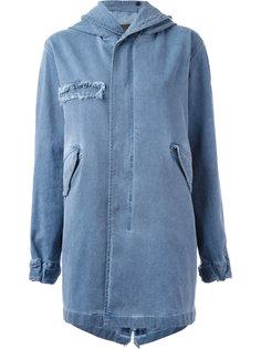 пальто с капюшоном в стиле милитари  Mr & Mrs Italy
