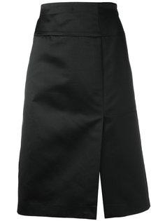 юбка с разрезом сбоку Céline Vintage