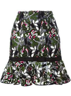 юбка с цветочной вышивкой Giambattista Valli