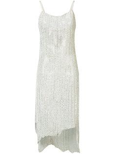 платье с неравномерным подолом Simon Miller
