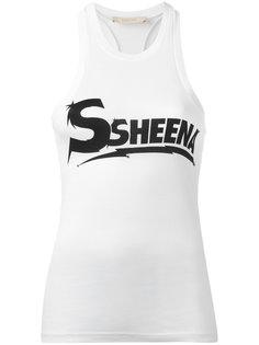 logo print vest  Ssheena