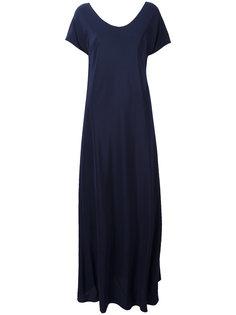 длинное платье с V-образным вырезом Aspesi