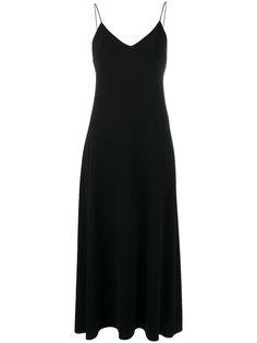 длинное платье на бретельках Calvin Klein