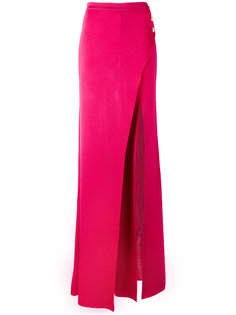 брюки-палаццо с имитацией юбки Balmain