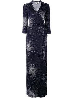 платье макси с запахом и принтом Diane Von Furstenberg