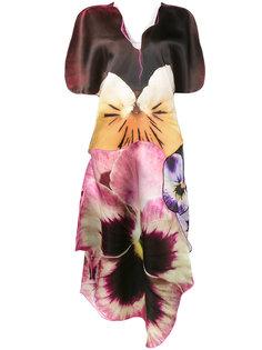 асимметричное платье с цветочным рисунком Christopher Kane