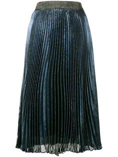 плиссированная юбка ламе Christopher Kane