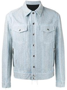 декорированная джинсовая куртка  Balmain