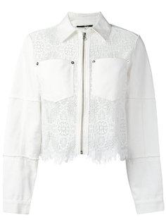 джинсовая куртка Hybrid с кружевной отделкой McQ Alexander McQueen
