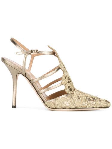 туфли с заостренным носком и вышивкой Alberta Ferretti