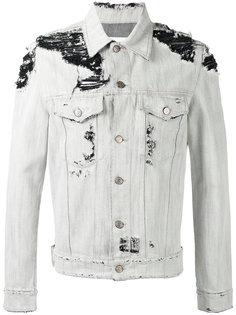 джинсовая куртка с потертой отделкой Golden Goose Deluxe Brand