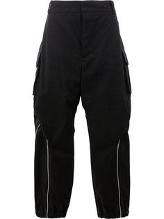 широкие брюки с молниями Moohong