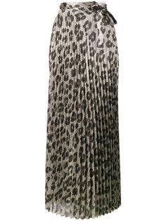 плиссированная юбка с леопардовым принтом Haider Ackermann