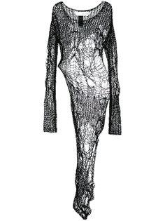 асимметричная блузка ажурной вязки Isabel Benenato