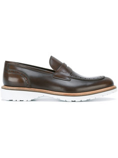 contrast sole penny loafers Salvatore Ferragamo