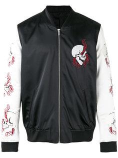 куртка с вышитым черепом The Kooples