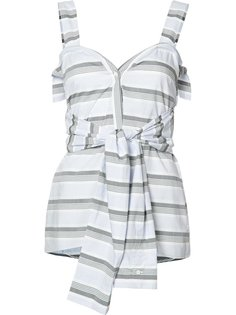 полосатая блузка с завязками на талии Derek Lam 10 Crosby