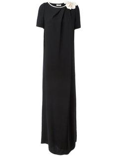 платье с объемной отделкой на плече Lanvin