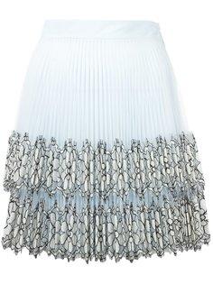 плиссированная юбка мини Christopher Kane