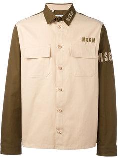 двухцветная куртка с логотипом MSGM