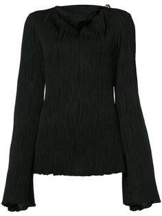 pleated cold shoulder blouse Prabal Gurung