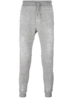 спортивные брюки с брызгами краски Dsquared2