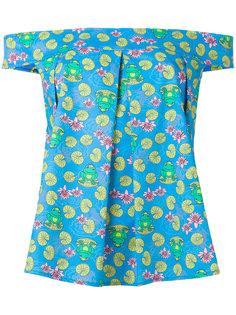 frog print blouse  Ultràchic