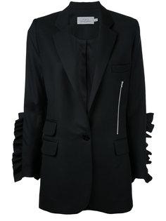 пиджак с рюшами на рукавах Preen By Thornton Bregazzi