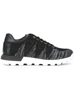 lace-up knit trainers Pollini